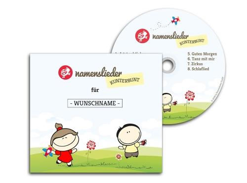 Namenslieder CD KUNTERBUNT + Begleitheft