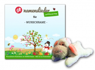 Namenslieder CD JAHRESZEITEN + Kuscheltier