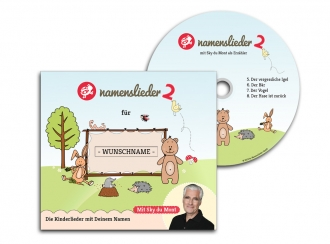 Namenslieder CD mit Sky du Mont + Kuscheltier